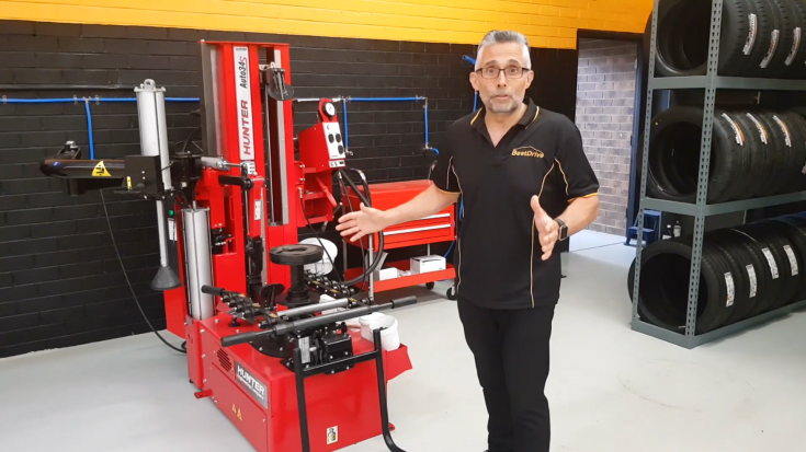 Check out our Hunter tyre changer!